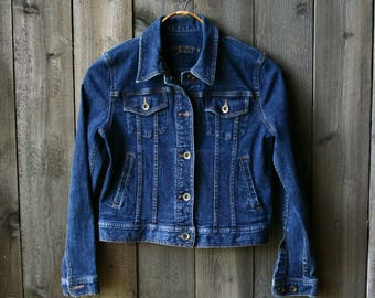 Denim Jacket  Dark Jean Jacket Small Womens Ralph Lauren Vintage From Nowvintage on Etsy