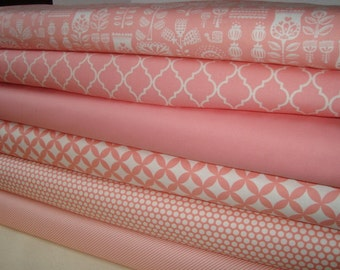 Sweet Pink Fat Quarter set  YES!! Continuous fabric cuts and combined shipping