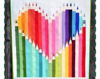 Color Outside the Lines quilt Pattern  from Kelli Fannin