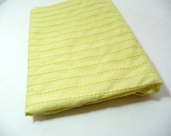 Vintage Fabric, Yellow Fabric, Vintage Eyelet Fabric, Sewing Supplies, Sewing Fabric, Over 1 Yard, Lightweight Fabric, Stripe Fabric, Pretty