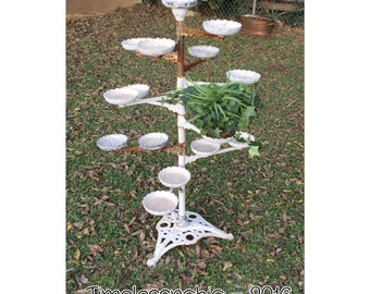 Plant Stand - Art Deco Plant Stand - Iron Plant Stand - Shabby Chic Plant Stand - Candelabra - Candle Holder - Plant Holder - Wedding Decor
