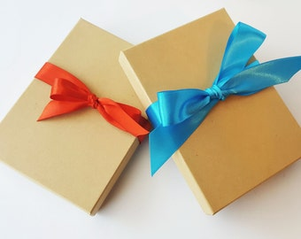 Small Gift Wrapping Add On for Ornaments | Gift Box with Ribbon | Wrapped Gift | Purchase Up Grade | Gift Wrap Option