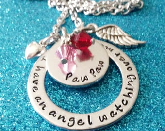 Angel Necklace, Memorial Jewelry, Memorial Necklace, Remembrance Jewelry, Dad Memorial, Personalized Gifts, Angel Dad, Remembrance Necklace