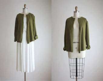 moss green cardigan
