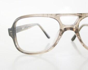 1970s Kids Aviator Eyeglasses Boys Glasses Deadstock Brand New Dark Brown Coffee LeStar Hipster Indie Fashion Childrens Eyewear NOS
