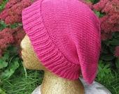 HALF PRICE SALE madmonkeyknits   dk slouch hat pdf knitting pattern - Instant Digital File pdf download knitting pattern