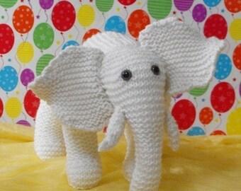 50% OFF SALE Instant Digital File PDF Download Knitting Pattern -Madmonkeyknits Nursery White Elephant toy animal pdf download