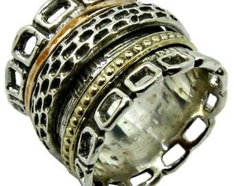 Spinner Ring Rings silver gold spinner Israeli Meditation  Bluenoemi rings