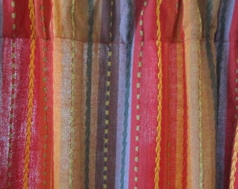 Set of 2 Bohemian Moroccan Multi Striped Curtains 84 long