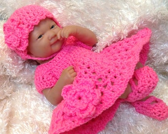 Clothes For 14 Inch Dolls,15 inch Dolls and 9 inch dolls.Dress Set. Color choice available