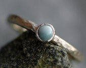 Larimar on Recycled 14k Gold Ring