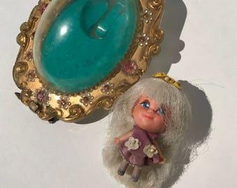 Vintage Toy Liddle Kiddles Lucky Locket Kiddle 1966 Mattel Lilac