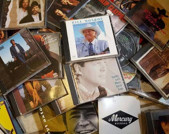 LOT of 44 Country Genre Music CDs Vintage 70s 80s 90s Classic thru Bluegrass Mixed Variety of Old School Rare & Hard to Find Country Artists