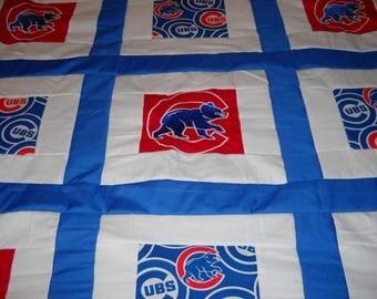 Chicago Cubs quilt 34 x 31