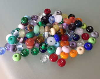 From the beadbox - 100  Spacer Beads  - Handmade Lampwork (40)