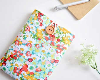 Custom Fit Kindle, Amazon Fire HD, Paperwhite Sleeve Case, iPad Mini Tablet Padded eReader Cover - Flowers