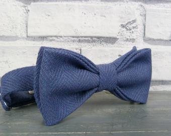 Irish Wool Tweed Bow Tie - Lavender Blue