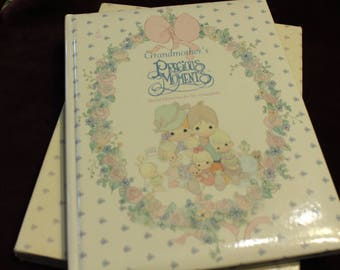 Precious Moments Grandmother's Book, Family Memories, Good Old Days, Grandma, Memory Book