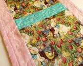Pink Easter Bunny, Easter Table, Runner, Spring Decor, Handmade