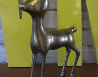 Mid century brass bambi stag antelope deer kitsch retro vintage 60s