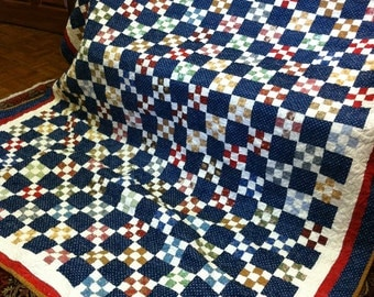 Blue Ninepatch Quilt