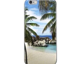 beach phone case, tropical palm tree phone case, case mate tough case, iphone 6 7, slim phone case, phone case ocean, summer phone case