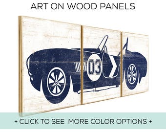 Our Classic Car Wall Art is Customizable and Perfect for Race Car Bedroom Decor - Car Design #3