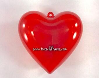 HEART Bath Bomb Mold, 3D, 2 Piece, Plastic