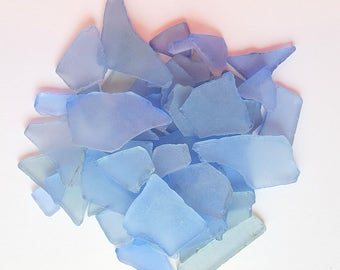 Beach Wedding Decor Bulk Sea Glass, Bulk Seaglass, Nautical Decor Bulk Beach Glass, Blue Sea Glass, Blue Beach Glass MED BLUE, 2 Lbs, #SGBMB