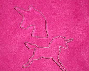 UNICORN Cookie Cutters Set of 2, Unicorn horse cookie cutter, Unicorn head cookie cutter, Magical Princess Parties