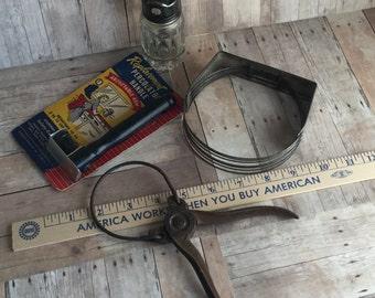 Vintage Assortment of Primitive Kitchen Utensils - 4 Different Items