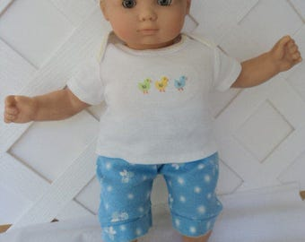 Doll Clothes,  Bitty Baby Girl   3 pc cute  Pants   outfit  with headband