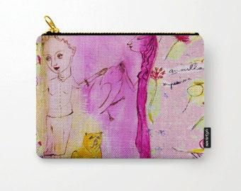 Cosmetic bag, toiletry storage, makeup bag, beauty Pouch, pencil bag girls, colourful purse, anagonzalezart