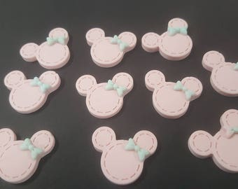 10 piece minnie mouse resin flat back  1 inch