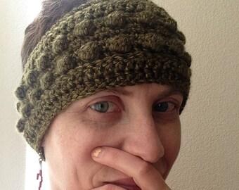 Cozy Bobble Headband - Green