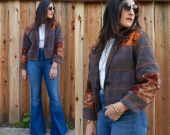 Vintage 90s INDIAN Cropped Jacket S