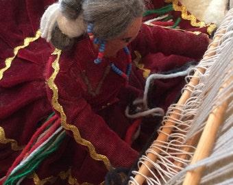 Vintage Navajo Weaver doll, 17x17x17