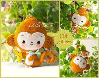 Cute monkey (PDF Pattern)