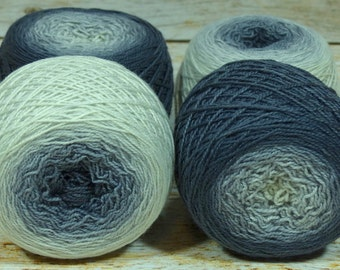 "Full "" Crone "" -Lleap Handpainted Gradient Sock Yarn"