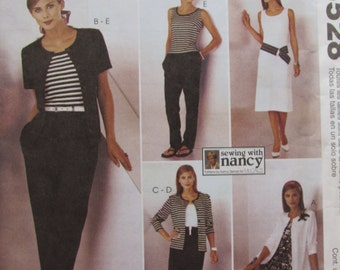 McCalls 3528/Uncut Sewing Pattern/Misses/Women's Easy Knit Wardrobe/Size 8-22/Dress/Pants/Top/Skirt/2002