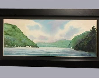 Lake Willoughby In Westmore Vermont Original Watercolor Painting