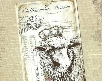 Tags, French Style, Le Mouton, Sheep Tags, Farmhouse Style
