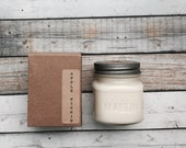 Apple Pickin  8 oz Mason Jar Soy Candle Rustic Hand poured