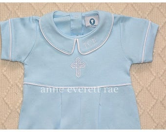 Baby Boy Baptism Outfit- Baptism Outfit-Baby Boy Christening Outfit-Dedication Outfit-Short Baptism Outfit- Personalized Baptism Outfit