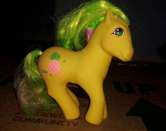 My little pony vintage tropical tootie tails neon pineapple