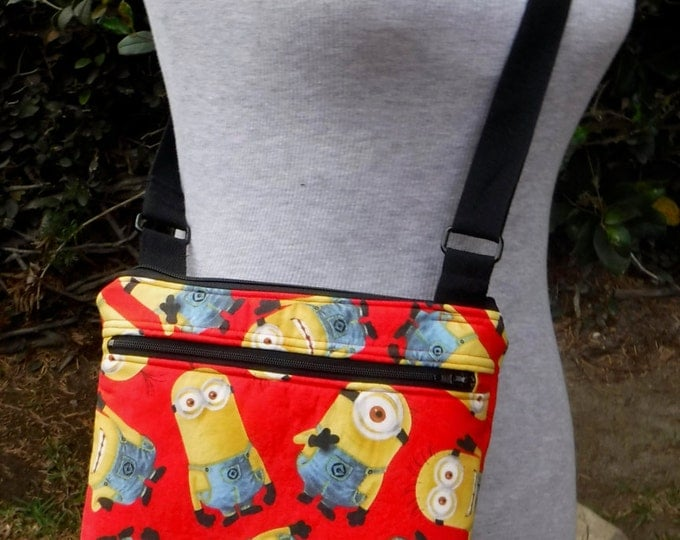 One in a Minion red toss - cross body/shoulder bag