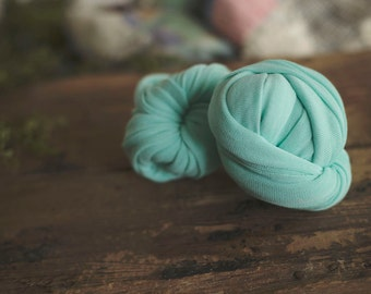 Newborn Wrap - Baby Wrap - Stretch knit wrap - Photography Prop -  Alpine Mint - Wrap