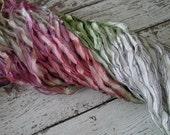 Beautiful - Hand Dyed Ribbon TULIP GARDEN dark shimmer edge ribbon, 5 yards
