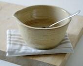 Large ceramic stoneware batter bowl - hand thrown glazed in pepper yellow