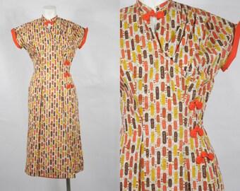 1950s Fashioned By Sorority Dead Stock Cheongsam Dress Gorgeous